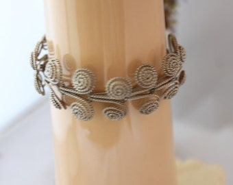 VINTAGE  60's Sterling Silver  coiled bracelet.SPAIN or ITALY