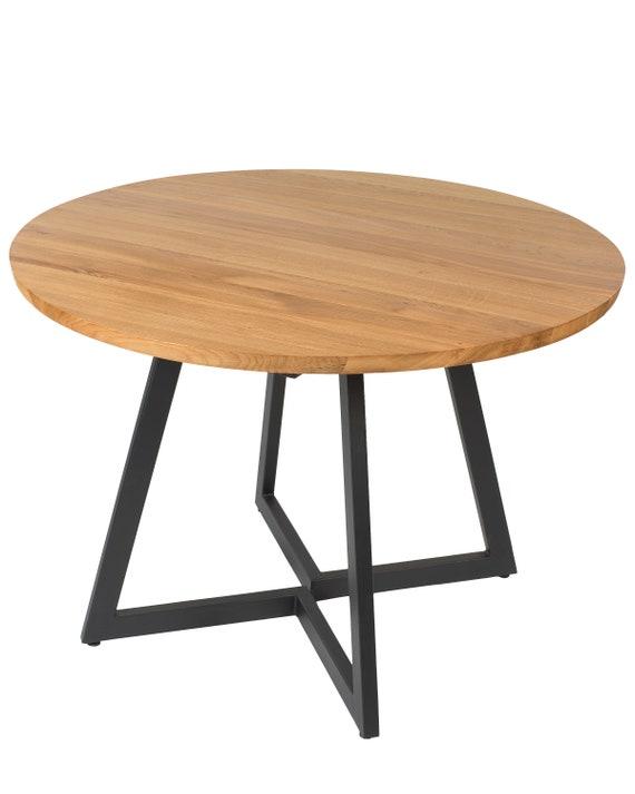 LIVRAISON GRATUITE DE L'UE. Table ronde extensible design moderne acier et  bois