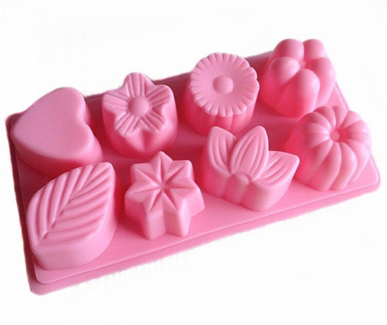 DIY Strawberry Cake Mold Soap Flexible Silicone Mould For Candy Chocolate YJ
