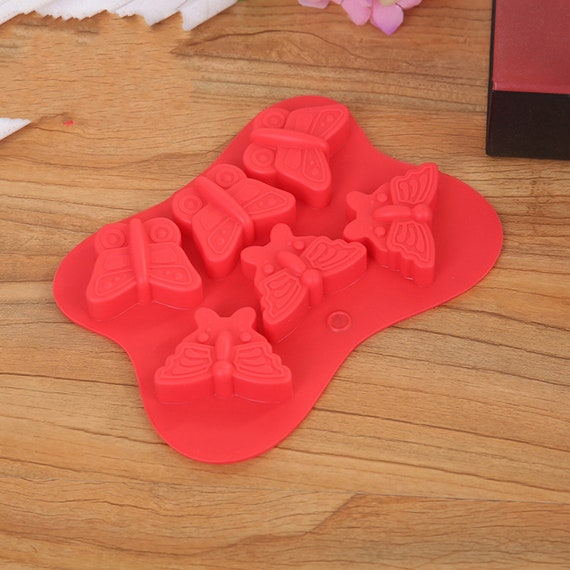 6-Cavity Small Butterfly Chocolate Mould Clay Molds Resin Mold Flexible  Silicone Mould For Handmade Soap Candle Candy Cake Fimo Resin Crafts