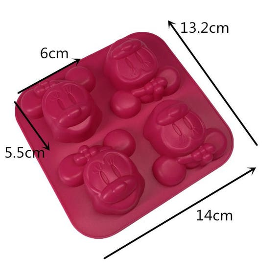 Cake Soap Mold Mickey Minnie Mouse Flexible Silicone Mould For Ice lattice ice