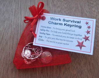 Work Survival Charm Keyring