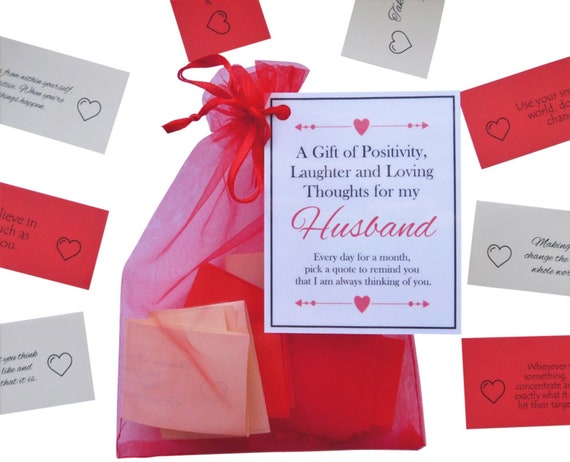 Husband Gift Quotes Of Positivity Laughter And Loving Etsy