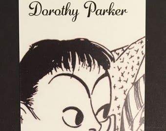 Dorothy Parker Bookmark. Unique with tassel and beads