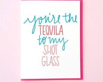 Alcohol Galentine. Funny Galentine's Day Card. Card for Boyfriend. Best Friend Card. Husband Card. Tequila Card. Alcohol Card. Valentine