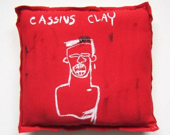 Cassius Clay Basquiat art home decoration wall love boxing gift sport graduation unisex pop graffiti creative pillow black boxer artist 80'