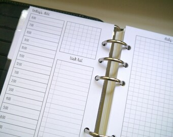 Filofax Personal DO2P Day on Two Pages Printable