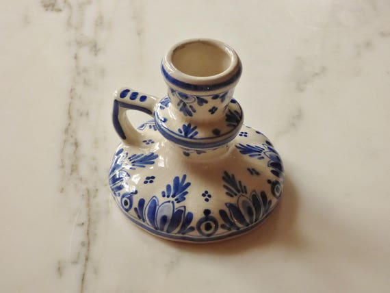 Delft Candle Holder Chamber Candlestick Delft Blue Star Etsy