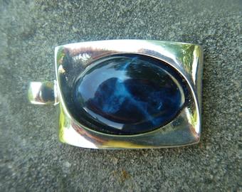 Vintage KC Pendant Blue Stone