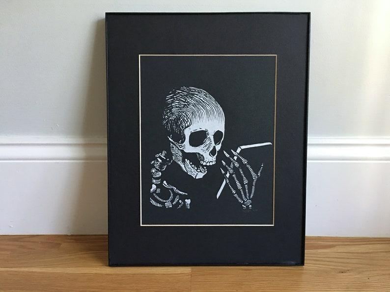 Put your phone down  Screen Print  Memento mori art wall art image 0