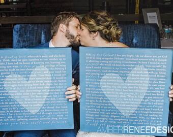 custom wedding signs - blue wedding decor - cyanotype - navy wedding ideas - wedding gift for bride - guestbook - christmas gift for husband