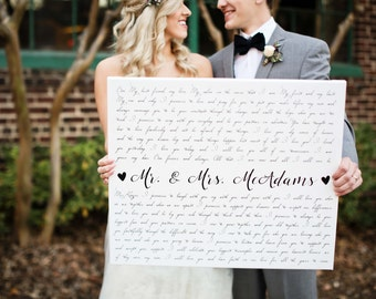 Valentines Day Gift for Husband and Wife, Anniversary Gift, Wedding Vows
