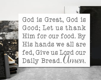 God is Great, God is Good | Canvas Art | Dining Room