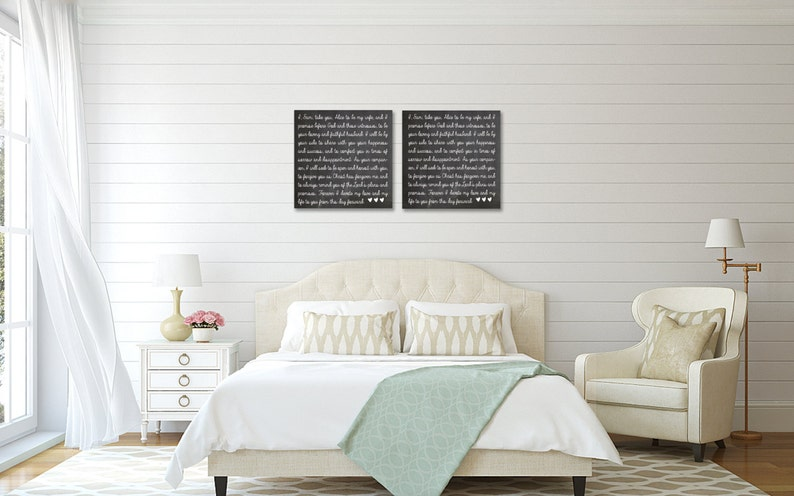 Wedding Vow Art  Wedding Vows  Personalized Canvas Wall Art image 0