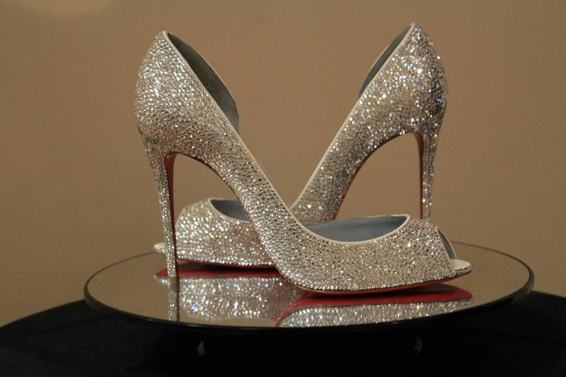 Louboutin Wedding Shoes.Crystal Wedding Shoes Bling Wedding Shoes Bling Bridal Shoes Strass Shoes Louboutin Wedding Shoes Bedazzled Shoes Bling Shoes Shoes