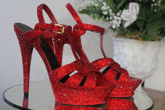 ysl tribute heels red