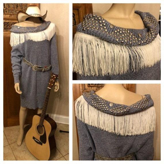 Cool Vintage Western Fringe Dolly Parton style Swe