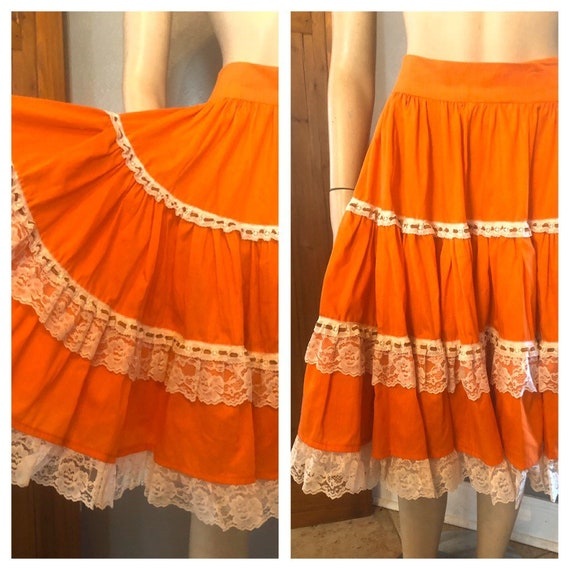 Super Fun Orange Square Dance western or Mexican C