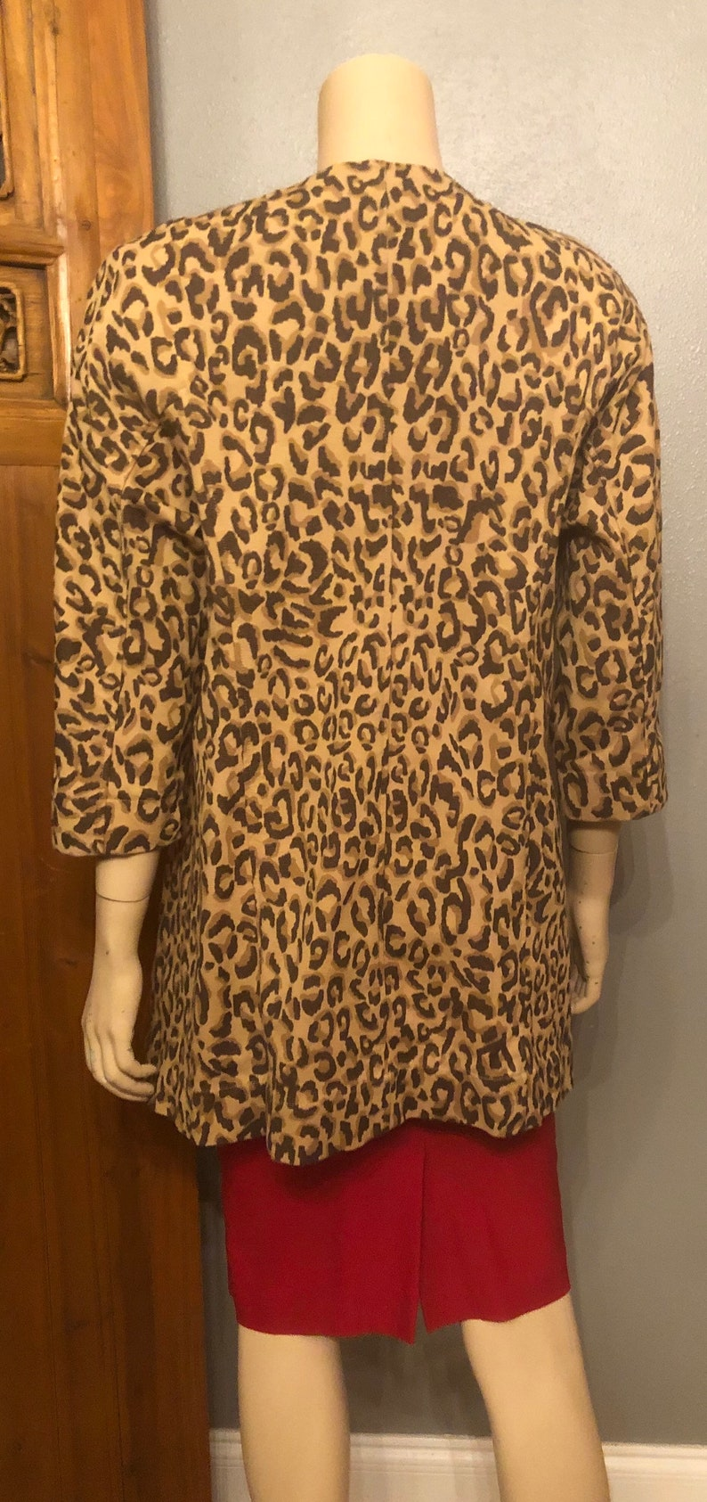 Awesome Vintage Designer 60s style Leopard Jacket by Carol Anderson by Invitation  Medium