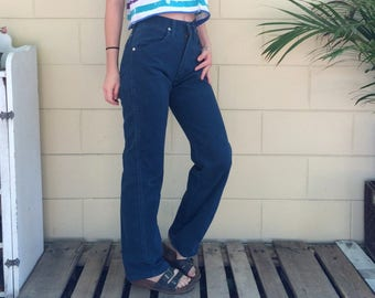 """25"""" Vintage Wrangler Jeans ~ Deep Turquoise - Classic Boot Cut"""