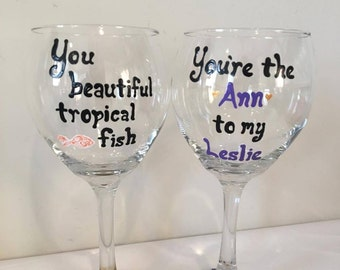 Ann Perkins Wine Glass Set - Parks and Rec Wine Glass Set