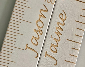 Personalized Wooden Growth Chart wooden growth ruler wood growth chart engraved name engraved numbers engraved lines