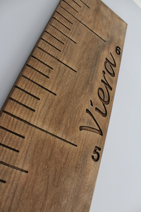 Custom Personalized Wooden Growth Chart Wooden Growth Ruler Etsy