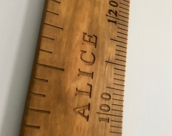 School Ruler Growth Chart wooden growth ruler wood growth chart engraved name engraved numbers engraved lines