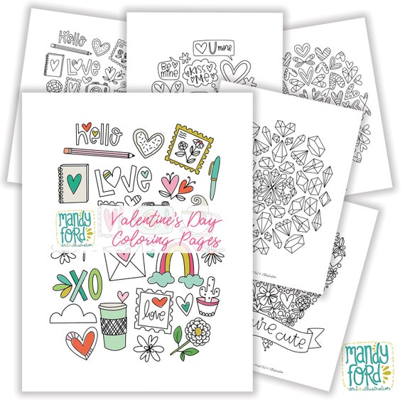 PRINTABLE Valentine's Day coloring pages coloring book