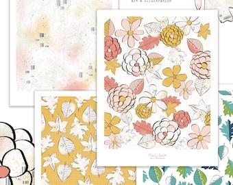 Chosen Place Autumn Printable Scrapbooking Papers | Fall Paper | Printable Paper | Planner Printable | Paper Crafting | Scrapbooking Kit