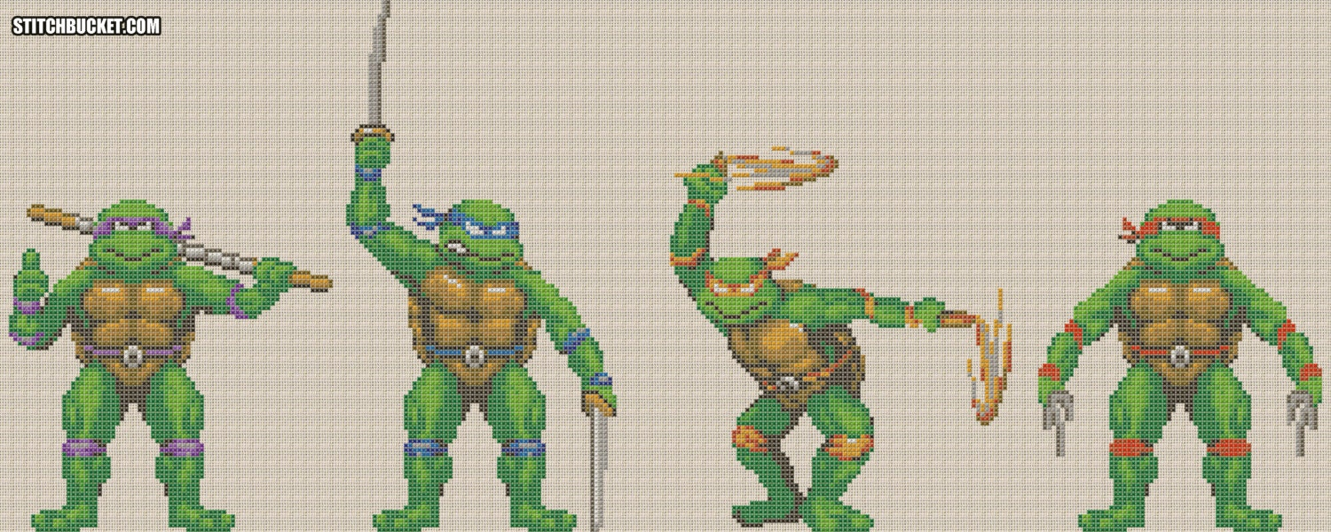 Teenage Mutant Ninja Turtles Cross Stitch Pattern | Etsy