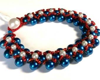 Patriot Red, White, and Blue Bracelet