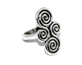 ec85fb205 Rare James Avery Retired Mycenaean Scroll Ring, Vintage Sterling Silver  Designer Modernist Spiral Abstract Ancient Design Jewelry Size 7