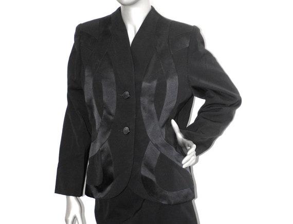 80s Galanos Ribbon Motif Jacket Blazer, Vintage 19