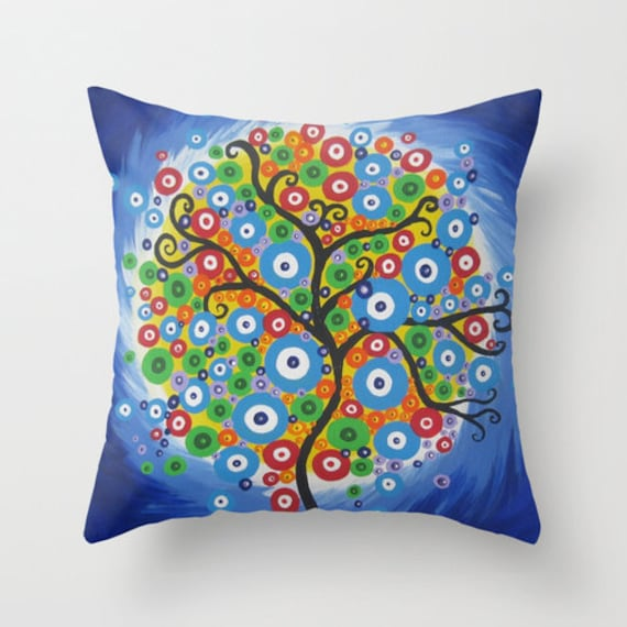 funky cushions covers for home throw pillows with trees of  5fa074e70
