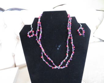 Two Strand Wire Crochet Necklace