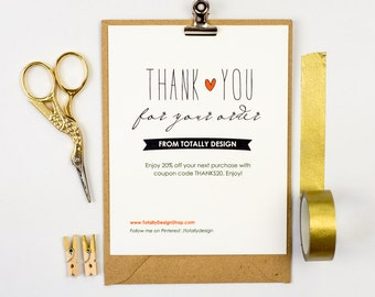 Business thank you cards template instant download naturally etsy business thank you cards instant download lovingly artsy cheaphphosting Image collections