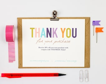 Business thank you cards instant download lightly fancy etsy business thank you cards template instant download naturally colorful friedricerecipe Choice Image
