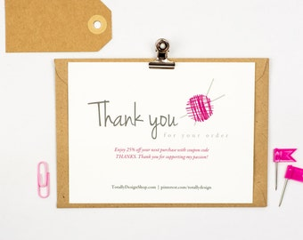 Thank You For Your Order Card Printable Instant Download Etsy