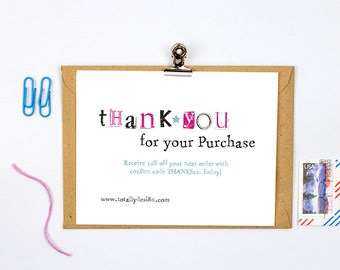 Business thank you cards template instant download naturally etsy business thank you cards instant download simply stamped cheaphphosting Choice Image