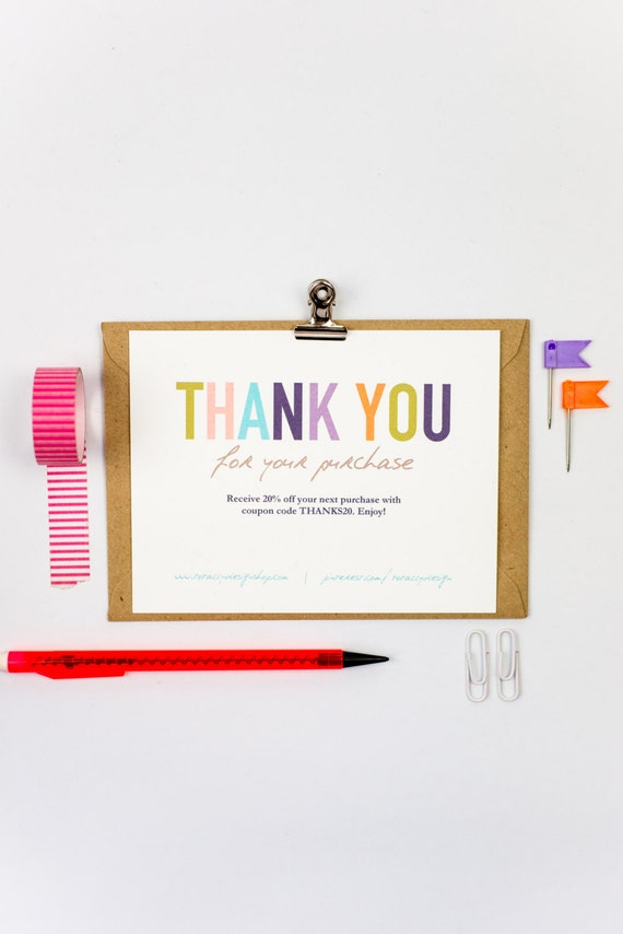 Business thank you cards template instant download naturally etsy image 0 cheaphphosting Choice Image