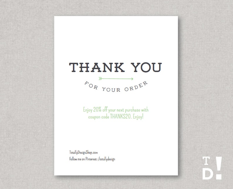 This is an image of Terrible Thank You for Your Purchase Printable