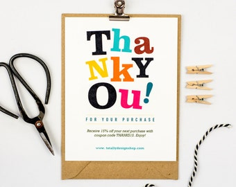 Thank You for Your Purchase Cards INSTANT DOWNLOAD - Cheerfully Spontaneous