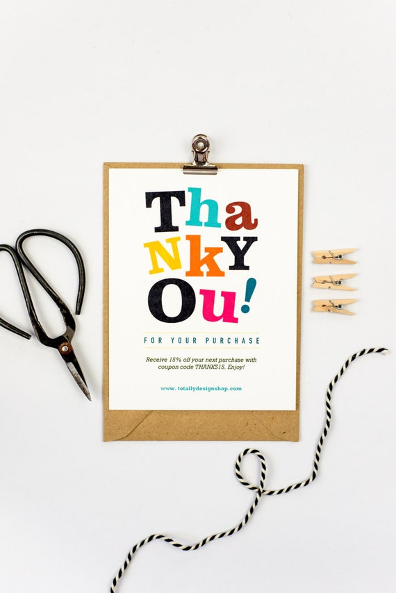 thank you for your purchase cards instant download  etsy