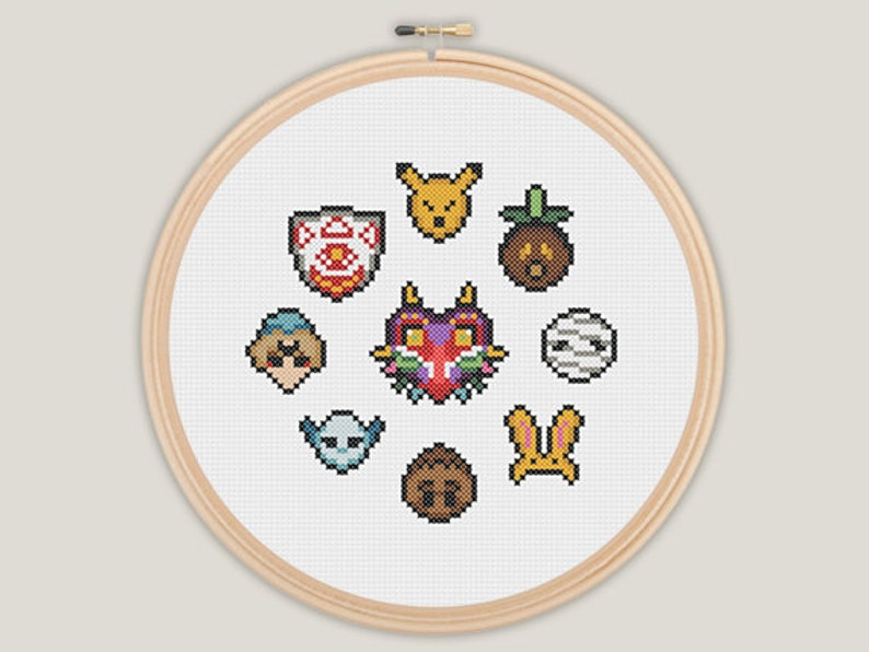 Majora's Mask  Zelda Cross Stitch  PATTERN image 0
