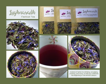 Lughnasadh - A blend of herbs for drinking, smudging, offering, and more, to help you celebrate the beginning of the harvest season.