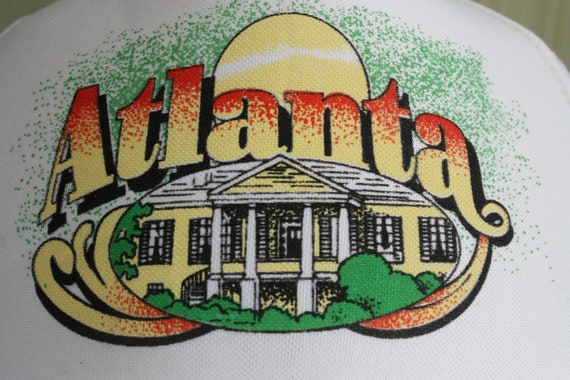 Atlanta city tourism white mesh snapback cap hat,