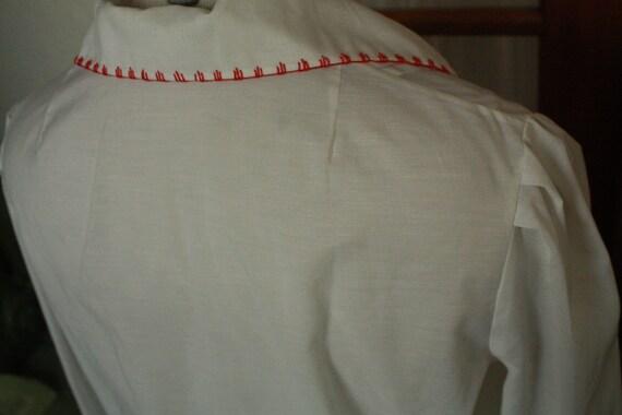 Vtg Sheer hungarian shirt blouse hodmezovasarhely… - image 6