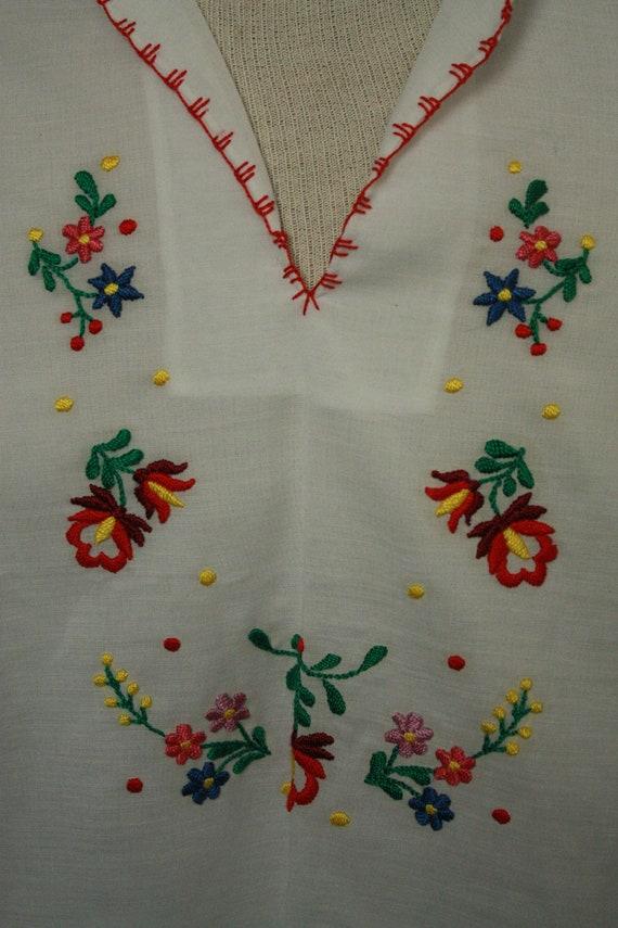Vtg Sheer hungarian shirt blouse hodmezovasarhely… - image 4