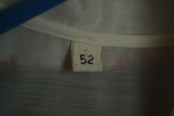 Vtg Sheer hungarian shirt blouse hodmezovasarhely… - image 8
